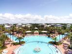 The Seacrest Lagoon Pool is 12000 sq. feet of fountains, waterfalls, and cabanas