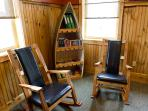 Relax in the comfort of rustic Adirondack appointments.  Games provided!