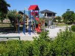 Parkside Suites B&B childrens play area, play equipment, sand pit, family gazebo, stage and BBQ area
