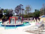 Resort water park with the second longest lazy river of all Myrtle Beach rentals