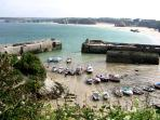 Newquay Harbour low tide