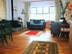 Joe's living area - looking towards the wood-burner