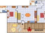 Floor plan of Villa Lilmar in Praiano