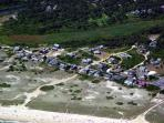 Surfside from the Air, Cottage circled