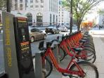 Capital BikeShare bike rack