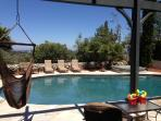 Pool with jacuzzi, firepit and BBQ