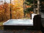 HOT TUB IN THE FALL
