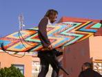 Surfer in the village