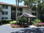 Secure front entrance; easy access to parking lot and manicured grounds