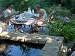 breakfast on the backyard deck