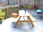 Woodside's patio garden