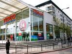 Tesco - Giant 24 Hour supermarket store - 5 min walk