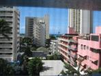 facing to Kuhio Ave.