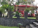 Garden gazebo view