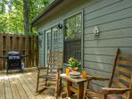 Relax in Rockers on Rear  Deck,Gas Grill, Hot Tub