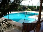 Pool setting - almost always perfectly clean...WiFi around the pool = ((-: