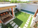 Privat garden with pool and Gazbeo