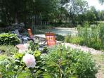 The terrace at the pond