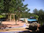 Casa das Rochas / Quinta da Arte viwe at he pool area coming from the right site near the boule area