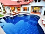 Open plan villa with private salt swimming pool