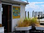 Visit the Phillips Wharf Environmental Center across the street in-season.