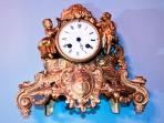 An Art Nouveau clock dates back to the early 1900s