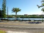 View of private dock on Intracoastal waterway from edge of driveway