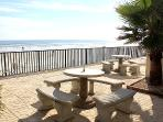 Picnic area with grill overlooking the Beach