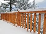 cedar railing 12x24' deck overlooking Ausable River