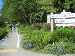 Path not far from your door leads to Botanical Gardens next door, brewery, village and beaches
