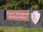 Volcanoes National Park - just 2 miles away