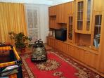 Living room with TV, DVD player and a toy car for your children