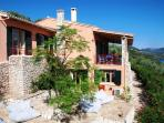 Large stone terrace with comfortable seats, watch the stars