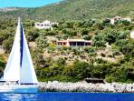 View from the sea, 4300 square meter of romantic olivetree garden