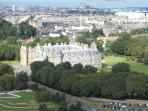 View from Arthurs Seat to Palace of Holyrood House