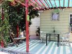 Back Garden semi covered patio for outdoor fun