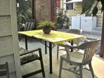 Back yard dining table
