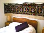 Art Deco furnished Bedroom #2 with Turkish Hand made vintage tapestry