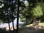 Fire pit overlooking beach