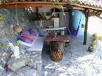 cabana and bar