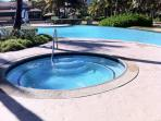 Hot Jacuzzi by infinity pool