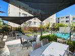 Heated outdoor pool and landscaped gardens
