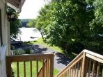 deck and view of The Esopus Creek