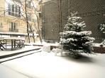 The terrace: Great in Summer, beautiful in Winter