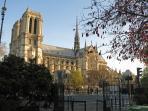 Notre-Dame is just around the corner