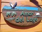Amor del Lago Sign