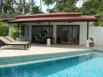rear terrace and pool