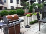Outdoor space with grill