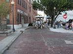 historic cobblestone streets