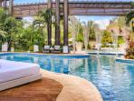 Poolside lounge area